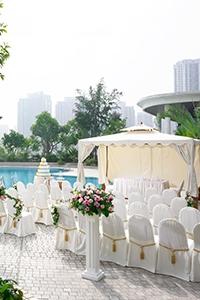 【酒店星級婚宴場地】超靚戶外池畔/空中花園浪漫證婚典禮  2萬元有找!