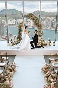 【空中婚禮】特色證婚場地推介!超靚360°高空景觀 打造浪漫空中婚宴