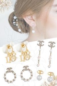 2021新娘必備珍珠首飾丨30款入門款Chanel、DIOR、Celine珍珠耳環丨人氣婚紗珍珠配飾網店推介