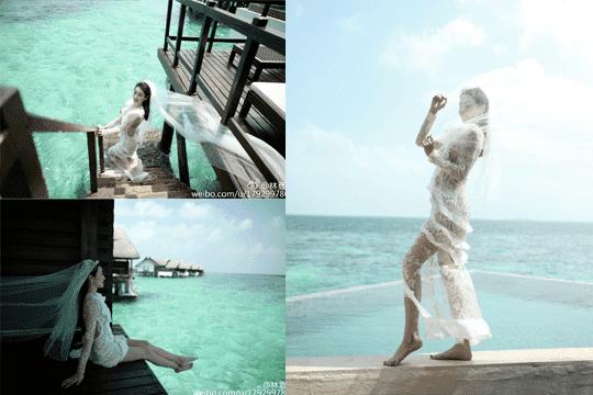 星級人妻分享!馬爾代夫蜜月照大放送