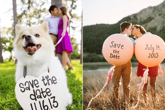 7種攝影方式請賓客Save the Date