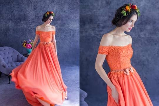 【從晚裝、姊妹衫、妝容、請帖到場地】2019 Pantone年度顏色「Living Coral活珊瑚橘色」主題婚禮