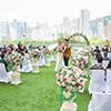 港島區婚宴新場地 3千呎空中花園舉辦小清新婚禮
