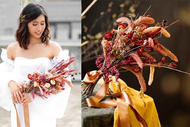 【結婚花球 2021】新娘花球用鮮花嫌浪費?大熱乾花及永生花花球推介 (附上保存方法)