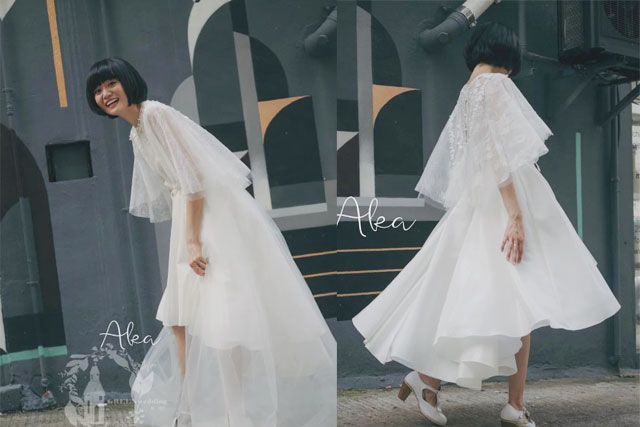 【輕婚紗品牌推介】瞬間成韓國熱搜!女神金泰希結婚時親自設計的短婚紗