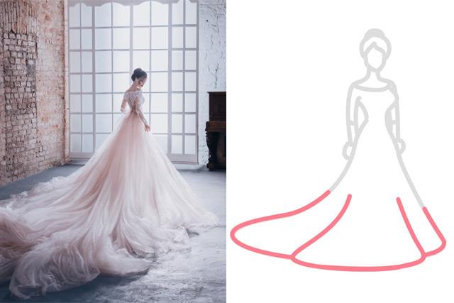 【婚紗晚裝2021】任何身形都能穿出Model Style! 15款婚紗下擺設計挑選貼士
