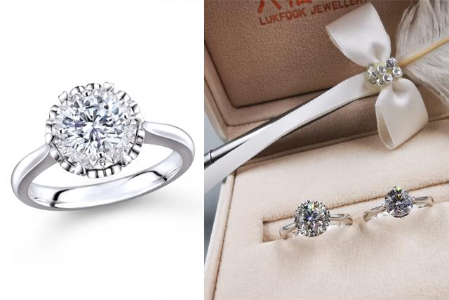 【求婚提案】1卡價錢2卡鑽石效果求婚戒