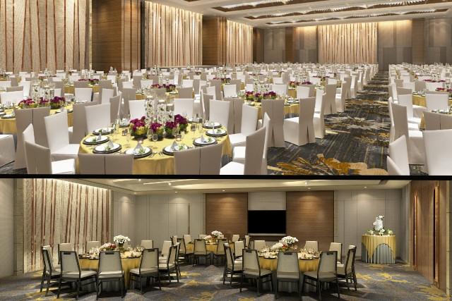 【東涌最大婚宴場地】香港東涌世茂喜來登酒店注目新登場!戶外園林證婚、特大高樓底宴會廳 新人首選