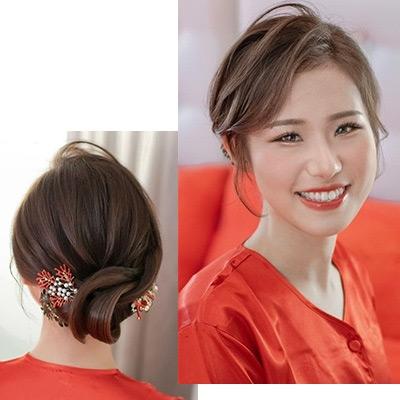 【2020新娘髮型】33個超靚新娘褂頭造型!本地人氣化妝師6大類裙褂髮型參考
