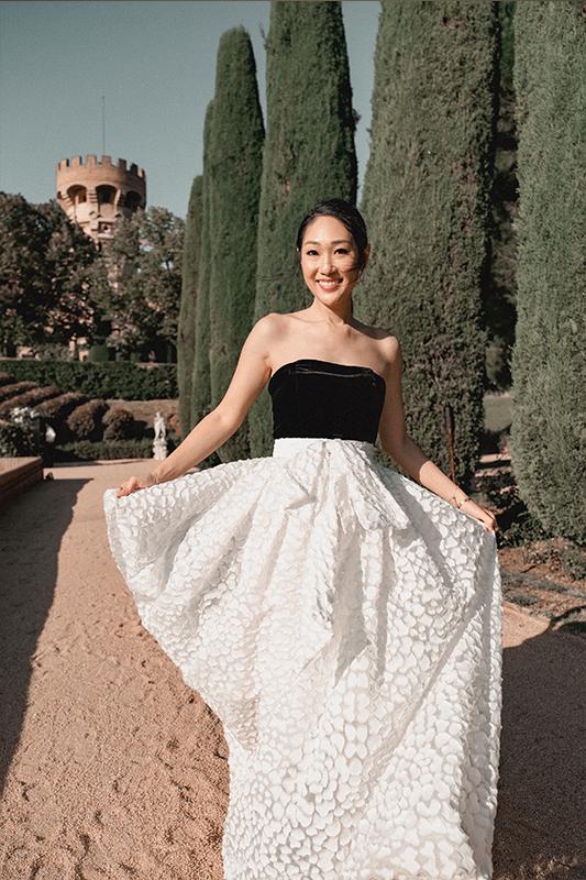 【婚紗造型】時尚名人關美薇6個歐洲古堡婚攝穿搭靈感、首飾推薦